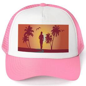 Running Trucker Hat Sunset Running