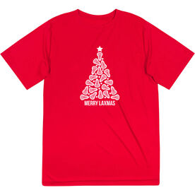 Lacrosse Short Sleeve Performance Tee - Merry Laxmas Tree