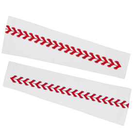 Baseball Printed Arm Sleeves - Baseball Stitches