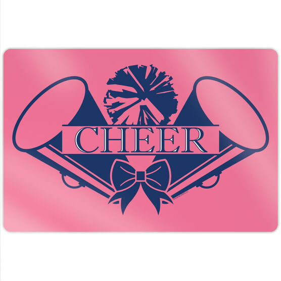 "Cheerleading 18"" X 12"" Aluminum Room Sign - Crest"