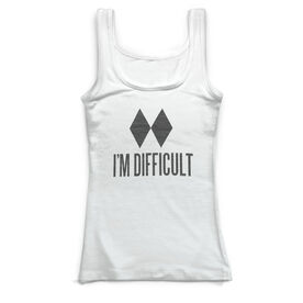Skiing & Snowboarding Vintage Fitted Tank Top - I'm Difficult