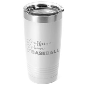 Baseball 20oz. Double Insulated Tumbler - Caffeine, Chaos and Baseball