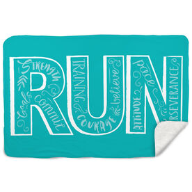 Running Sherpa Fleece Blanket - Run With Inspiration