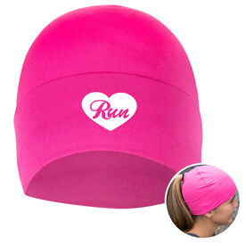 Performance Ponytail Cuff Hat Heart To Run