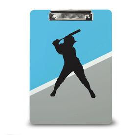 Softball Custom Clipboard Softball Silhouette