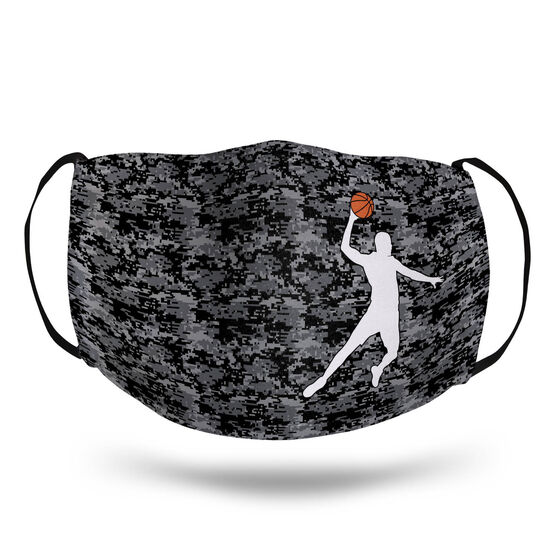 Basketball Face Mask - Digital Camo Basketball