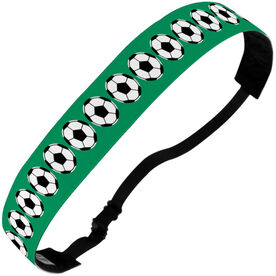 Soccer Julibands No-Slip Headbands - Soccer Ball Stripe Pattern