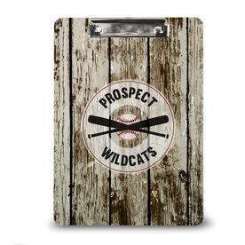 Baseball Custom Clipboard Baseball Team Name With Distressed Wood