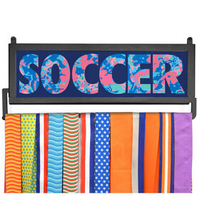 AthletesWALL Medal Display - Floral Soccer