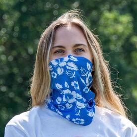 Multifunctional Headwear - Hibiscus Blue RokBAND