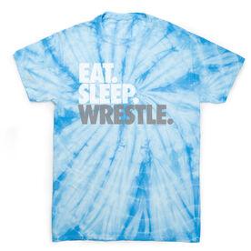 Wrestling Short Sleeve T-Shirt - Eat. Sleep. Wrestle Tie Dye