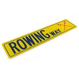 "Crew Aluminum Room Sign - Rowing Way (4""x18"")"