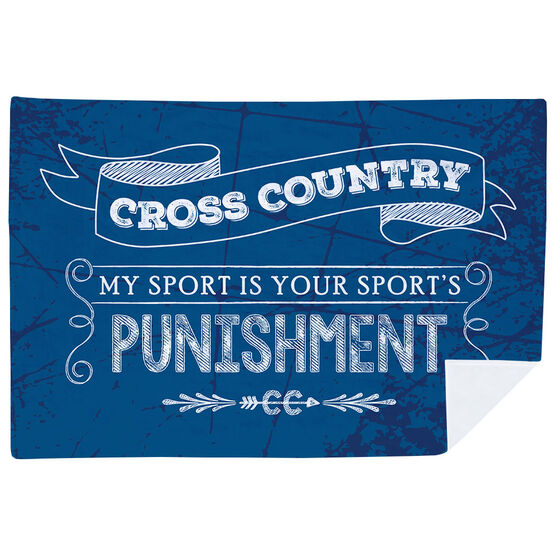 Cross Country Premium Blanket - Chalkboard My Sport Is Your Sport's Punishment
