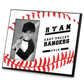 Baseball Photo Frame Baseball Stitch Sweetspot (Horizontal)