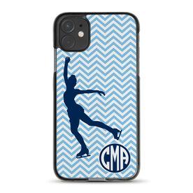 Figure Skating iPhone® Case - Chevron Monogram Skater
