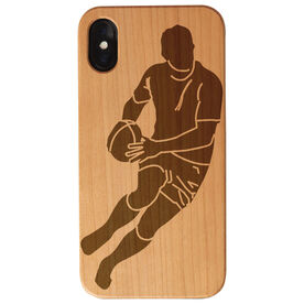 Rugby Engraved Wood IPhone® Case - Rugby Player