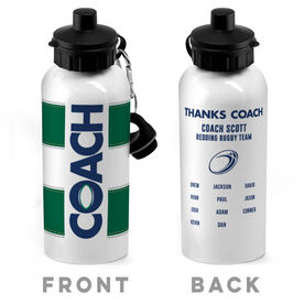 Rugby 20 oz. Stainless Steel Water Bottle - Coach With Roster
