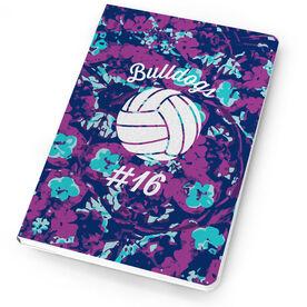 Volleyball Notebook Flower Power