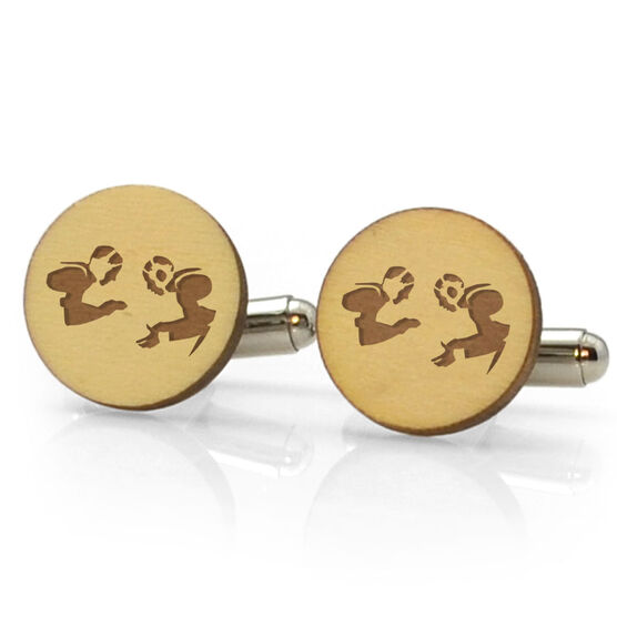 Wrestling Engraved Wood Cufflinks Wrestlers