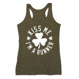 Women's Everyday Tank Top - Kiss Me I am a Runner Shamrock