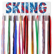 Skiing Hooked on Medals Hanger - Floral Skiing