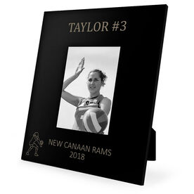 Volleyball Engraved Picture Frame - Name and Number (Player Silhouette)