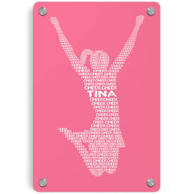 Cheerleading Metal Wall Art Panel - Personalized Cheer Words