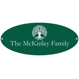 Personalized Indoor/Outdoor Oval Sign - Family Tree Sign