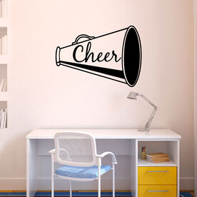 Cheer Megaphone Removable ChalkTalkGraphix Wall Decal