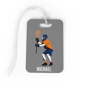 Guys Lacrosse Bag/Luggage Tag - Personalized Goalie