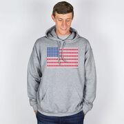 Baseball Hooded Sweatshirt - Patriotic Baseball