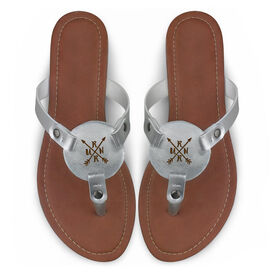 Running Engraved Thong Sandal - RUNR Arrows