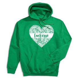 Girls Lacrosse Hooded Sweatshirt - Lacrosse Heart