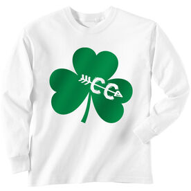 Cross Country Tshirt Long Sleeve Shamrock With Cross Country CC