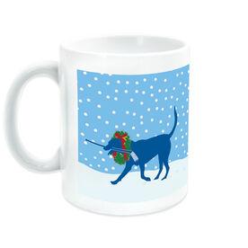 Hockey Coffee Mug Howe the Hockey Dog with Christmas