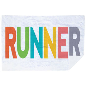 Running Premium Blanket - Runner Colorful