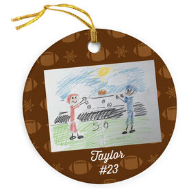 Football Porcelain Ornament Your Drawing With Personalization