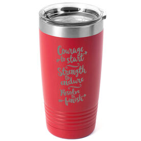 Running 20 oz. Double Insulated Tumbler - Courage To Start