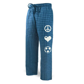 Soccer Lounge Pants Peace Love Soccer