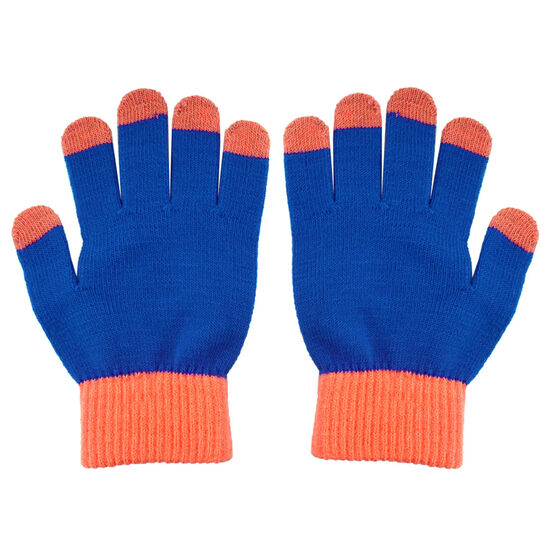 Running Gloves with Touch Screen Fingers - Blue/Orange