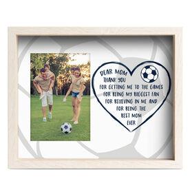 Soccer Premier Frame - Dear Mom Heart