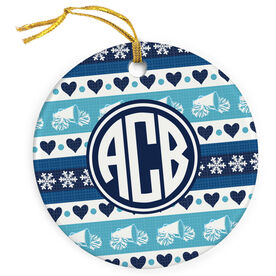 Cheerleading Porcelain Ornament Monogrammed Cheer Christmas Sweater