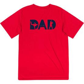 Baseball Short Sleeve Performance Tee - Baseball Dad Silhouette