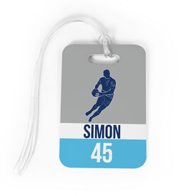 Rugby Bag/Luggage Tag - Personalized Guy Name and Number
