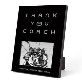 Hockey Photo Frame - Thank You Coach