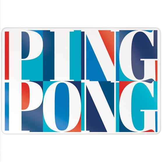 """Ping Pong 18"""" X 12"""" Aluminum Room Sign - Ping Pong Mosaic"""