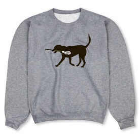 Guys Lacrosse Crew Neck Sweatshirt - Max The LAX Dog