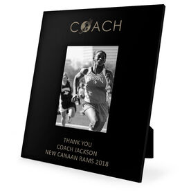 Track & Field Engraved Picture Frame - Coach