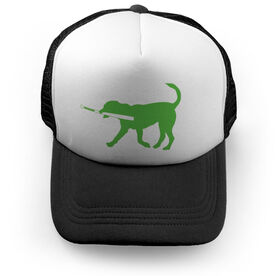 Softball Trucker Hat Pitch The Softball Dog