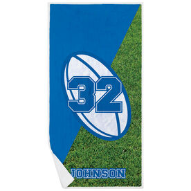 Rugby Premium Beach Towel - Personalized Ball